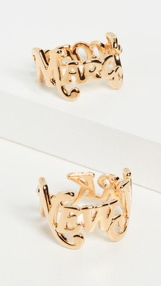 Marc Jacobs New York x The Logo Stack Rings