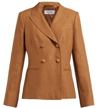 Max Mara Lontra Blazer - Womens - Brown