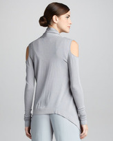 Donna Karan Open-Shoulder Cozy Cardigan