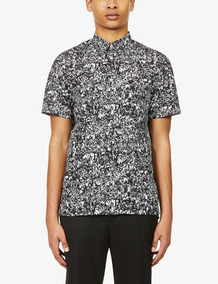 Paul Smith Graphic-pattern casual-fit cotton-poplin shirt