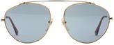 RetroSuperFuture Super Sunglasses Leon in Blue Resin