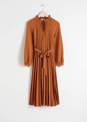 And other stories Pleated Midi Dress
