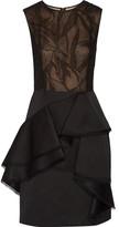 Jason Wu Cotton-blend lace and twill dress