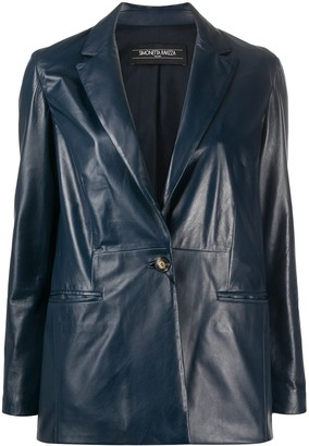 Simonetta Ravizza Betty single-breasted leather blazer