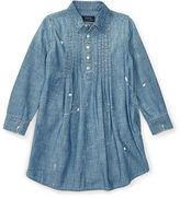 Ralph Lauren Pintucked Chambray Shirtdress
