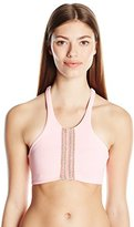 Maaji Women's Rosewood Expressions Pale Rose Surrealism Sporty Top Reversible Bikini Top