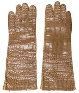 Prada Alligator & Leather Gloves