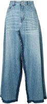 MM6 MAISON MARGIELA open-front denim skirt - women - Cotton - 38