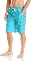 Trunks Teal Cove Men's Piped Swim Trunk