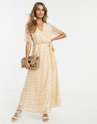 Y.A.S maxi tea dress in soft floral print-White