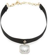 Nakamol Asscher-Cut Crystal Choker Necklace, Clear