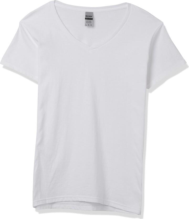 Thumbnail for your product : Gildan Women's Heavy Cotton V-Neck T-Shirt 2-Pack