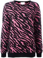 Giamba zebra pattern pullover - women - Polyamide/Mohair/Alpaca/Virgin Wool - 44