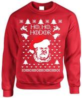 Allntrends Adult Crewneck Sweatshirt Ho Ho Hodor Ugly Christmas Sweater (L, )