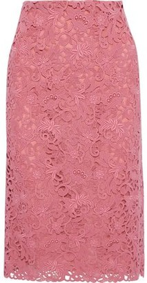Valentino Cotton-blend Guipure Lace Pencil Skirt