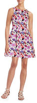 Gabby Skye Floral Fit-and-Flare Dress