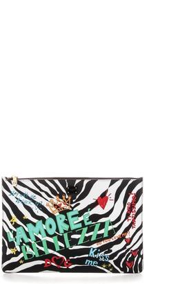 Dolce & Gabbana Zebra Print Clutch Bag