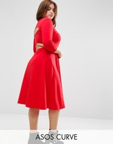 Asos Midi Skater with Cut Out Back