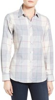 Foxcroft Petite Women's Winter Plaid Cotton Shirt