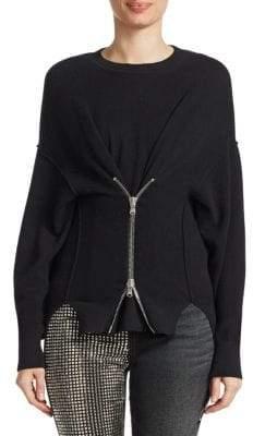 Alexander Wang Zip-Front Pullover