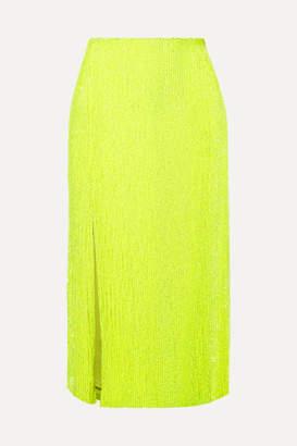retrofete Veronica Sequined Chiffon Midi Skirt