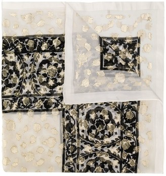 Yves Saint Laurent Pre Owned Floral Pattern Scarf