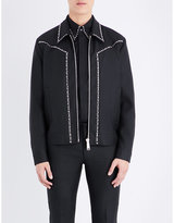 Dsquared2 Studded Wool-blend Bomber Jacket