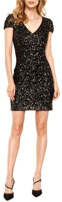 Heartloom Kaley Sequin Short Sleeve Bodycon Dress