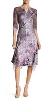 Komarov Split Neck Midi Dress