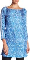 Thomas Wylde Printed Zip Silk Tunic