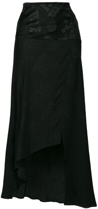 Romeo Gigli Pre-Owned embroidered asymmetric skirt