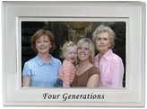 "Lawrence Frames Brushed Metal 4 x 6"" Four Generations Frame"