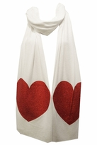 Wildfox Sparkle Heart Scarf in White