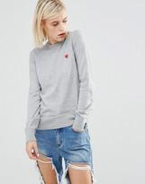 Love Moschino Heart Clip Cotton Sweater