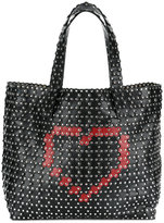 RED Valentino hearts and studs tote
