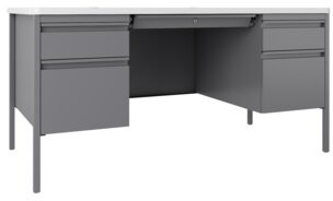 Rebrilliant Marc Teacher's Double Pedestal Desk Rebrilliant