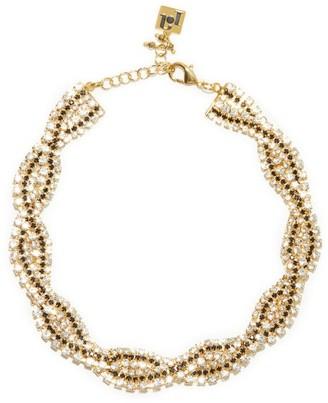 Rosantica Chevron Crystal-choker Necklace - Crystal