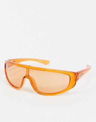 Arnette x Post Malone orange visor sunglasses