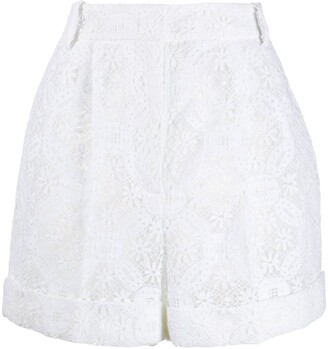 Alexander McQueen High-Waisted Lace Shorts
