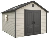 Lifetime Storage Building Shed 11' X 13.5' - Gray And White