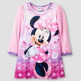Toddler Girls' Disney Minnie Mouse Long Sleeve Nightgown Pink