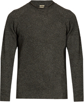 Massimo Alba Raglan-sleeved yak honeycomb-knit sweater