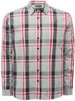 M&Co Grey large check long sleeve shirt
