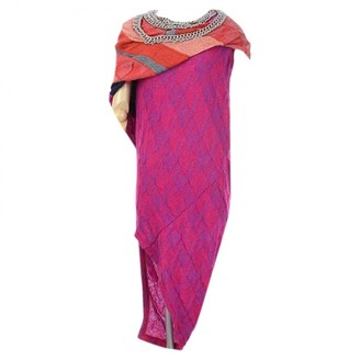 Comme des Garcons Pink Wool Dresses