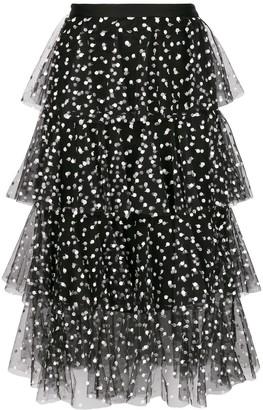 Philosophy di Lorenzo Serafini Polka Dot Ruffled Skirt