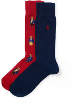 Polo Ralph Lauren Bear and Solid Sock 2-Pack