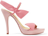 RED Valentino Bow-embellished leather platform sandals