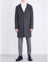 Chalayan V-neck wool and cashmere-blend peacoat