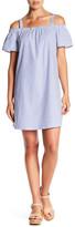 Bobeau Short Sleeve Cold Shoulder Dress