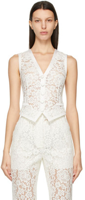 Dolce & Gabbana Off-White Lace Vest